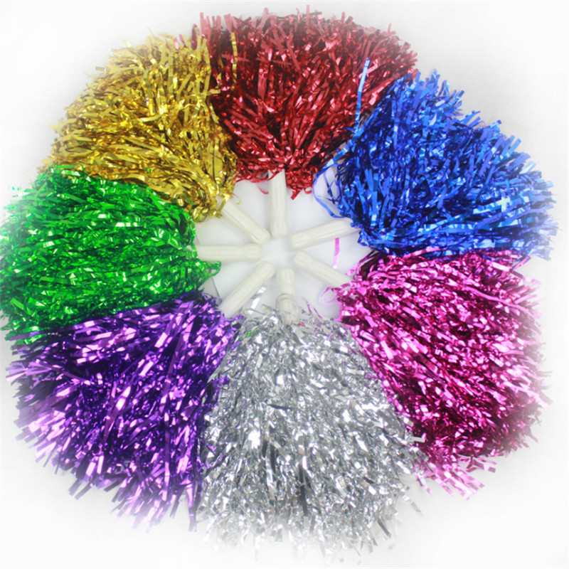 2 Pcs Cheer Dance Sport Competition Cheerleading Pom Poms Flower Ball For For Football Basketball Match Pompon Children Use