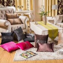 Одежда высшего качества класса люкс из толстого вельвета цветное сверление подушка покрытие домашний декор для дивана автомобильное кресло размером 45*45, декоративная наволочка на заказ подушка