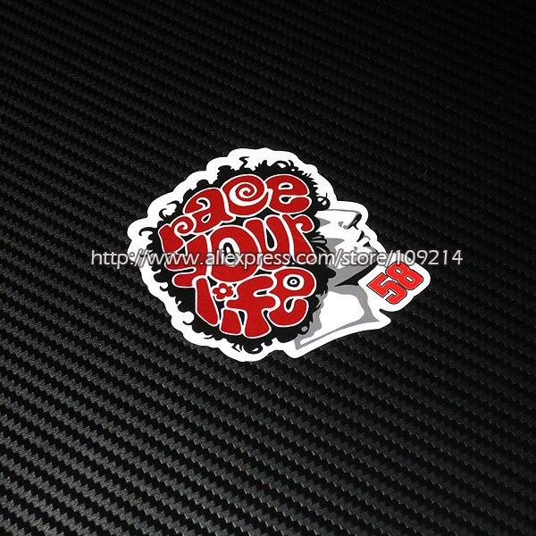 Venta caliente Marco Simoncelli 58 casco de la motocicleta ...