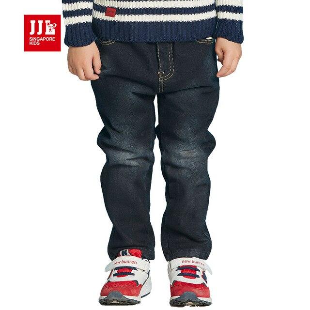 Темно-синий мальчиков джинсы малышей детей брюки детские джинсы полная длина прямые ноги детей брюки зима розничные дети брюки 2016