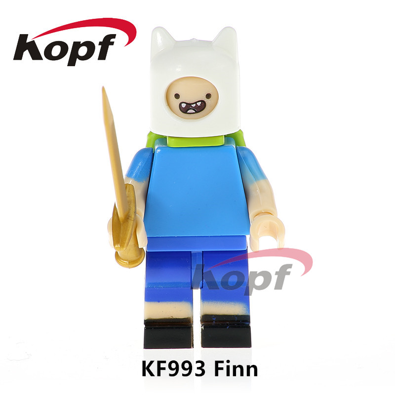 Single Sale Super Heroes Adventure Time Finn The Human Annabelle Bricks Collection Building Blocks Children Toys Gift KF993 single sale building blocks super heroes bob ross american painter the joy of painting bricks education toys children gift kf982