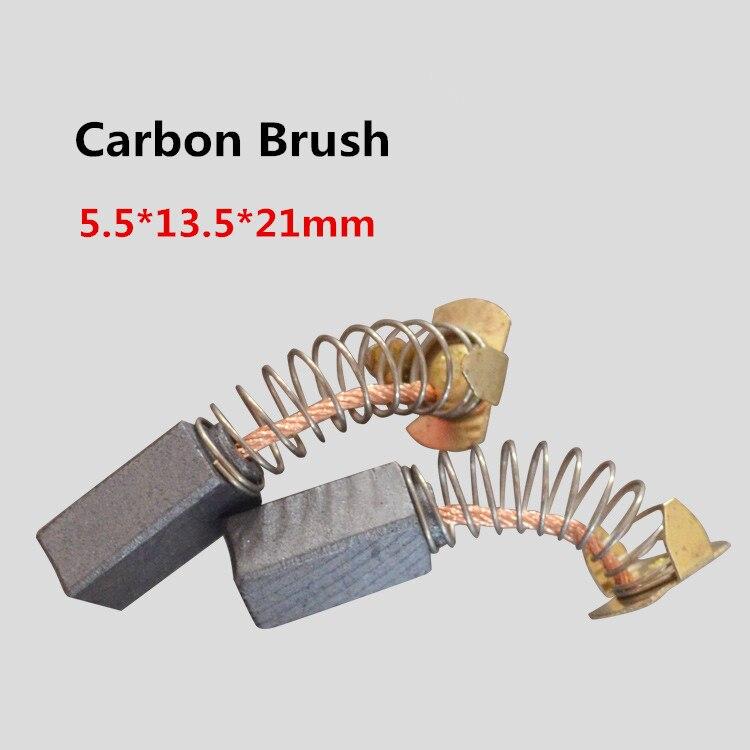 ̀ •́ Carbono Cepillos 5.5*13.5*21mm para máquina de coser Cepillos ...