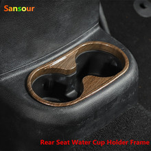 Sansour ABS Rear Seat Water Cup Holder Frame Cover Trim Rear Cup Holder For Jeep Wrangler 2011-2016