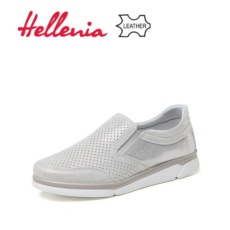 Shoes Woman Women Flat Shoe Flip on Spring 2019 Flats Harajuku Luxury Rubber Genuine   leather   Round Toe casual sneakers Shoes