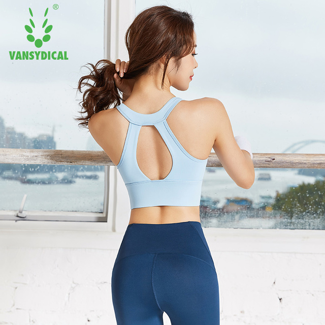 Sexy Hollow Out Women Shockproof Sports Bra