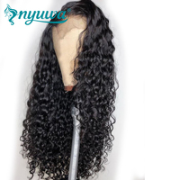 13x6 Lace Front Human Hair Wigs With Baby Hair 150% Pre Plucked Curly Lace Front Wig For Black Women Brazilian Remy Hair NYUWA