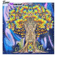 Ever Moment Diamond Painting Full Square Drill Colorful Tree Picture Of Rhinestone Diamond Embroidery Decoration Home 3F478