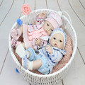 16Inch Lifelike Full Silicone Vinyl Reborn Baby Doll Toys Play House Juguetes Child Kids Birthday Christmas Gifts Can Bath