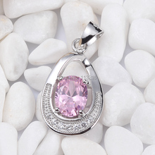 Eulonvan sumptuousness Panic buying Office best sell Pink Cubic Zirconia 925 sterling Silver fashion Jewelry Pendant S-3725 Rock