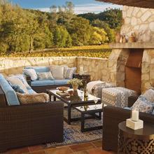 Классический полимерный плетеная мебель для гостиниц современный дизайн угловой диван