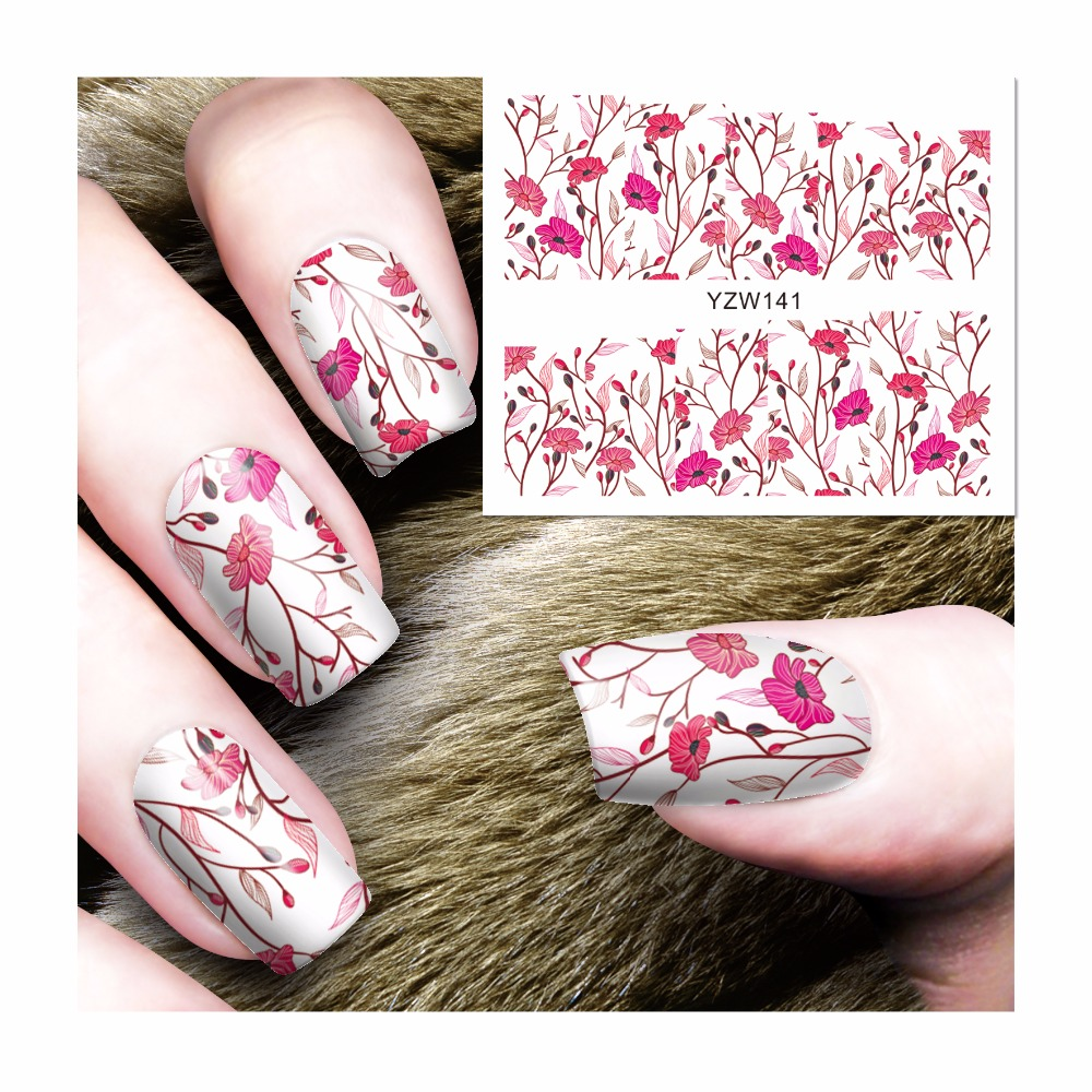 FWC New Fashion Lovely Sweet Water Transfer 3D Grey Cute Cat Nail Art Sticker Full Wraps Manicure Decal DIY 141 sweet manicure decal accessory cartoon nail sticker for children
