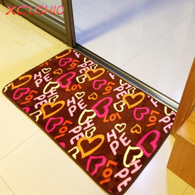Thickened Coral Fleece Carpet Floor Mat Anti-slip Bath Mat for Bathroom/Kitchen/FloorDoor Mat 40x60/50x80/60x90cm Fast Shipping