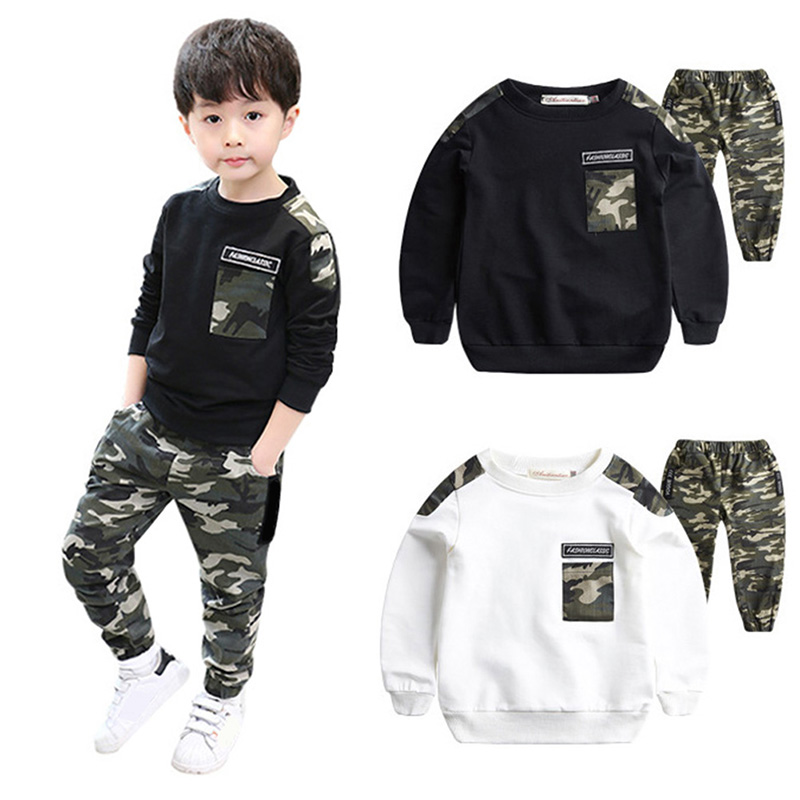 Autumn Baby Boy Cotton Camouflage Pattern Long Sleeve Casual T-shirt Tops Trousers Outfits Set Cotton Long Sleeve Pants SuitAutumn Baby Boy Cotton Camouflage Pattern Long Sleeve Casual T-shirt Tops Trousers Outfits Set Cotton Long Sleeve Pants Suit