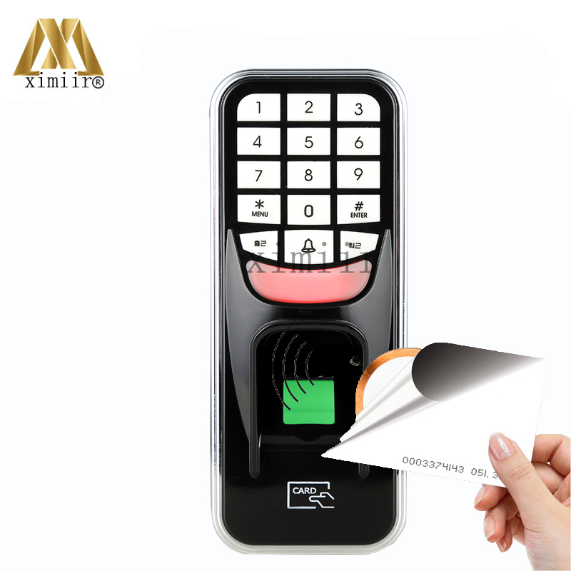 USB Communication Standalone Fingerprint Access Control System Door Access Controller With RFID Card Reader And Keypad F801 fingerprint access control standalone single door controller cheapest standalone keypad finger rfid card zkteco x6 door entry