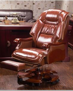 Leather chair for home use. Office chair. Massage can be reclining chair. .21 the boss chair is real leather the home can be massaged leather big class chair seat computer chair