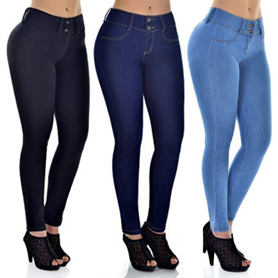 2018 Spring Jeans For Women Slim Skinny Bodycon Denim Jean Pantalon Femme Pencil Pants Plus Size S-XXL