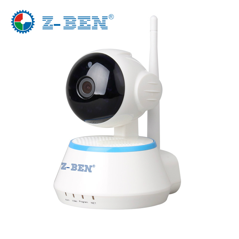 ZBEN 720P HD Mini P2P IP Camera IPDH09 Cam Z-BEN Wireless Wifi Cam Pan/Tilt Two Way Audio Video Push Alarm on Motion Detection
