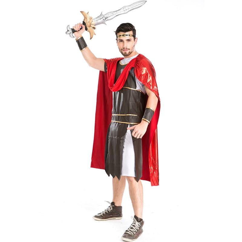 Nouveau Rome combattants Costumes Halloween gladiateur Cosplay spartiate guerrier jeu uniforme scène vêtements L1891055