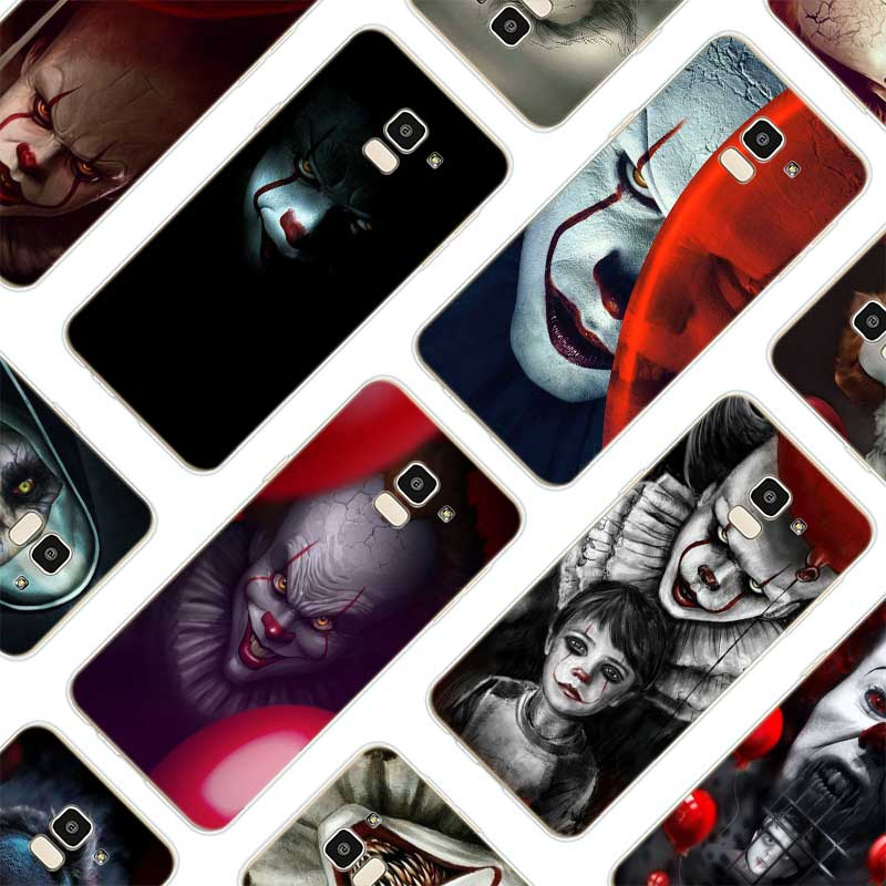 Transparent Soft Silicone Phone Cases Pennywise Clown Horror For Samsung Galaxy j8 j7 j6 j5 j4 j3 2018 2017 2016 Prime