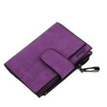 Women Mini Grind Magic Bifold Leather Wallet Card Holder Wallet Purse(China)