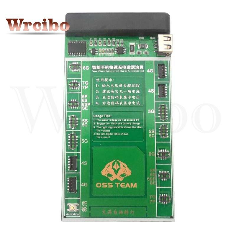 imágenes para Wrcibo reparaciones profesional junta cargo de activación de la batería + micro usb cable para iphone 7G 7 Más 6 S 6 splus 6 6 plus 5 5S 5C 4S 4