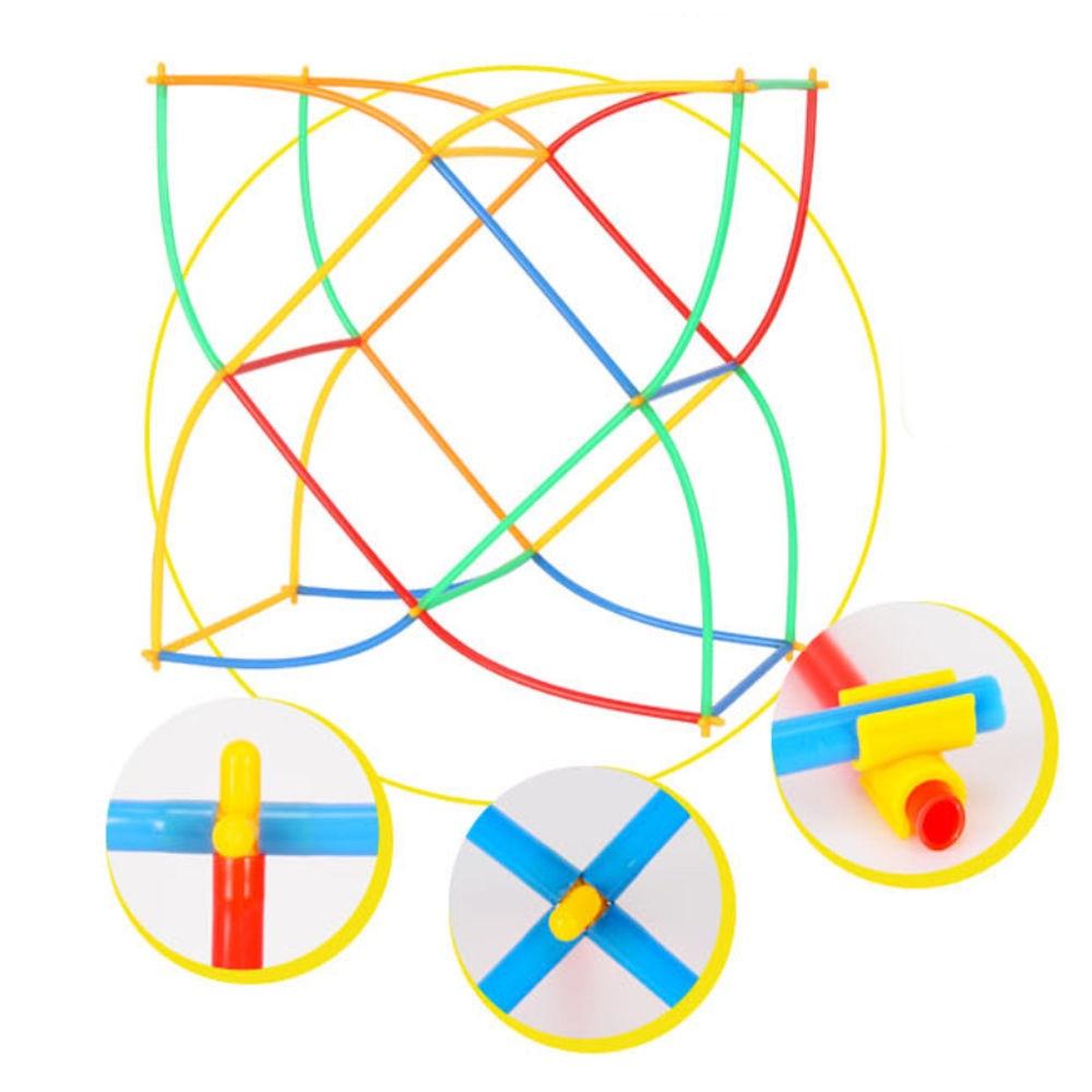 4D Straw Interlocking Educational Toys Plastic Building Block Bricks Set Kids