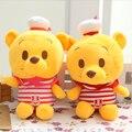 Bonito do urso com a marinha vestir e de 20 CM de comprimento bonito brinquedos do bebê brinquedo de pelúcia para as crianças presentes preço de fábrica frete grátis SY017B