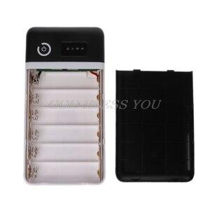 Image 3 - Double USB QC 3.0 6x18650 batterie bricolage boîtier de batterie avec lumière LED cc 9V 12V chargeur pour iPhone Xiaomi tablette de téléphone portable