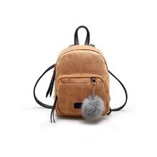 Kawaii Backpack Women Mini Bags Backpacks Girl School Shoulder Bag Rucksack Corduroy Material Travel Bags Fashion Performance