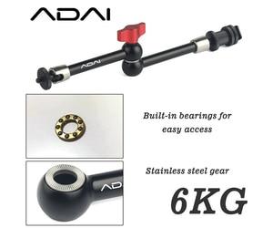Image 2 - ADAI 7 zoll/11 zoll magic arm kamera montieren und große super clamp einstellbare kamera monitor, LED, flash, leistungsstarke magische arm montieren