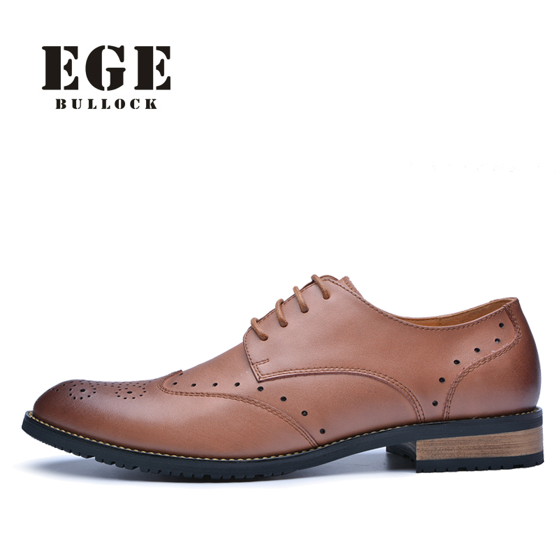 2015 High Quality Genuine Leather Bullock Men Flats Shoes Casual British Style Men Oxfords Fashion Brand