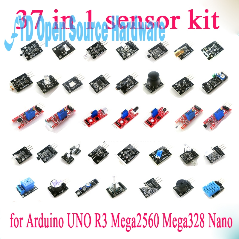 37 in 1 Sensor Module Kit For UNO R3 Mega2560 Mega328 Nano