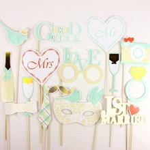 Photo Props For Wedding 15pcs/set White Photobooth Bride Party Decor Love Booth Decorations Supplies