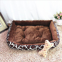 Rectangle Leogard Plaid Colored Dogs Beds Soft Warm Pet House Kennel Breathable Pet Mat Cushion With Mat For Small Dogs Cats