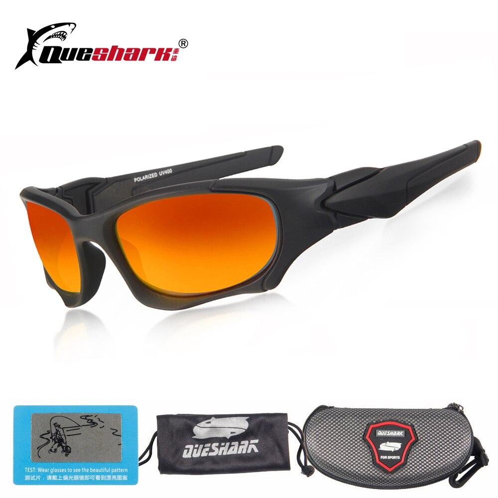 ab6757f4fdf24 Queshark TR90 Caminhadas Esportes Óculos Polarizados Pesca Óculos De Sol  Dos Homens Das Mulheres Óculos de