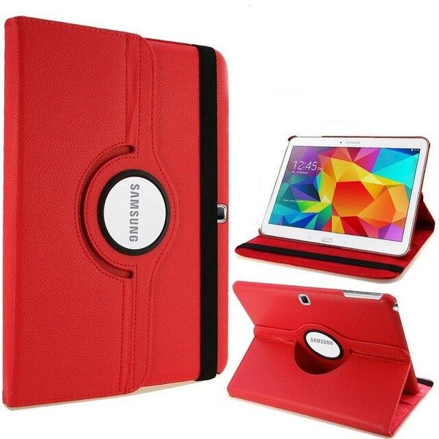 Caso para Samsung Galaxy Tab 4 10,1 T530 T531 T535 SM-T530 T533 SM-T531 SM-T535 Tab 4 10 cubierta Folio Pu soporte de cuero Capa inteligente