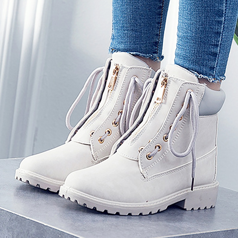 купить Fashion cross tied winter boots for women shoes 2018 hot style round toe ankle boots solid ladies boot zapatos de mujer по цене 1430.67 рублей
