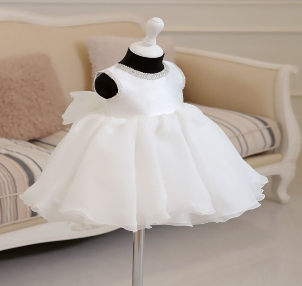 Retail & Wholesale little girls kids Princess Party Dress Big Bow Tiers Bubble Bodice Beaded Dress Holiday Wedding dress  little kids fubbles bubble machine
