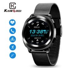 Купить с кэшбэком Smart Watch Men IP68 Waterproof Heart Rate Monitor Bluetooth Smartwatch Answer Call Stainless Strap for Xiaomi Smart Phone Watch