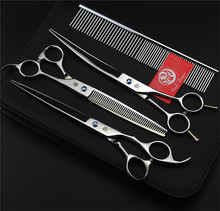 Professional Pet Grooming Scissors Set 7 8 Inch  With Comb Bag