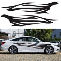 1 Pair Flame Totem Car Stickers and Decals Front Bumper Fire Sticker Auto Doors Styling Vehicle Vinyl Car Accessories