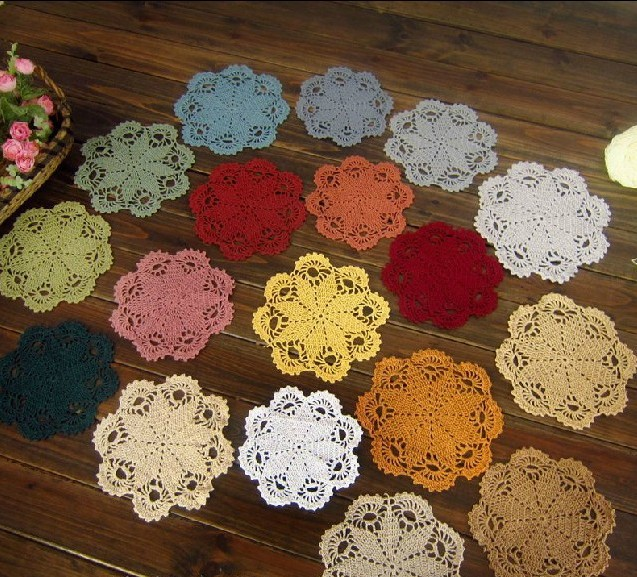 Crochet Doily Patterns Table Mats Fabric Doilies Vintage Round