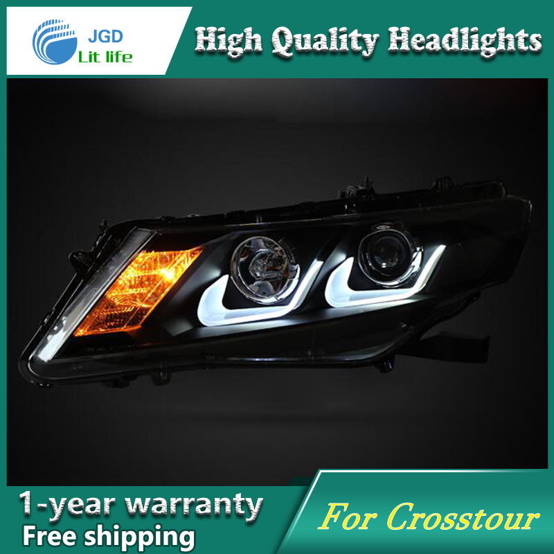 high quality Car styling case for Honda Crosstour 2011 2012 Headlights LED Headlight DRL Lens Double Beam HID Xenon high quality car styling case for mitsubishi lancer ex 2009 2011 headlights led headlight drl lens double beam hid xenon