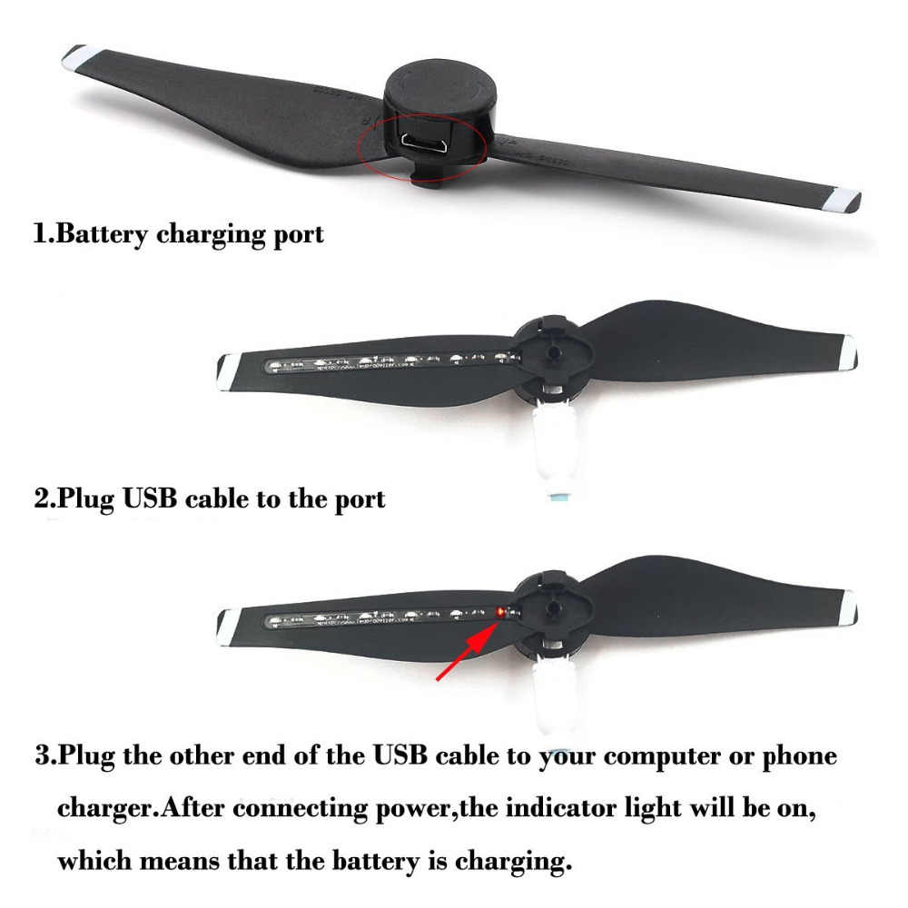 STARTRC DJI Mavic Air propellers LED Flash Propeller USB Charger Easy to  mount secure For Mavic air drone Accessories IN Stock!