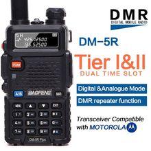 Портативная рация Baofeng DM 5R plus Tier1 Tier2, цифровая рация DMR с двойным временным слотом, двусторонняя радиосвязь VHF/UHF, двухдиапазонный радиоретранслятор DM5R plus