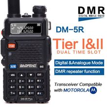 Baofeng DM 5R plus Tier1 Tier2 Digital Walkie Talkie DMR Dual time slot Two way radio VHF/UHF Dual Band radio Repeater DM5R plus