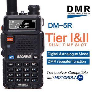 Image 1 - Baofeng DM 5R plus Tier1 Tier2 cyfrowe Walkie Talkie DMR podwójny czas gniazdo dwukierunkowe radio VHF/UHF radio dwuzakresowe wzmacniacz DM5R plus