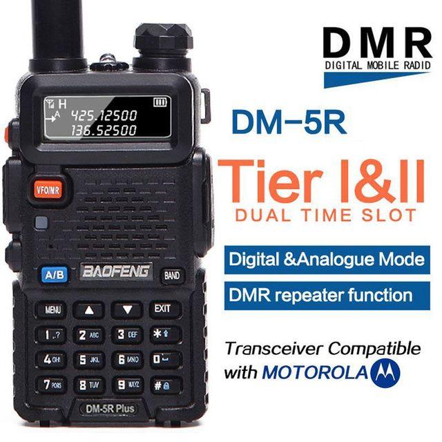 Baofeng DM 5R plus Tier1 Tier2 cyfrowe Walkie Talkie DMR podwójny czas gniazdo dwukierunkowe radio VHF/UHF radio dwuzakresowe wzmacniacz DM5R plus