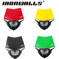 Ironwalls PC Plastic Shell Multi-Color  Motorcycle Fairing Kit Clear Lens Cover 6 Bright White LEDs For Honda Suzuki Generic