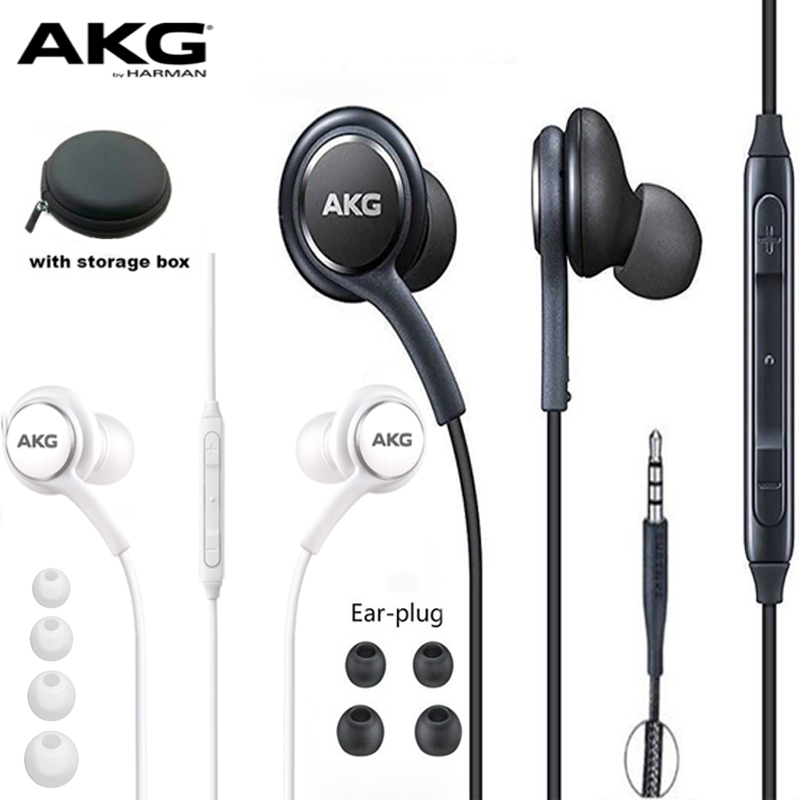 AKG Earphones IG955 3.5mm In-ear with Microphone Wire Headset for hauwei xiaomi Samsung Galaxy s10 S9 S8 S7 <font><b>headphone</b></font> smartphone